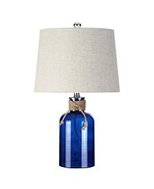 Azure Glass Bottle Led Table Lamp