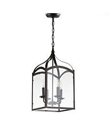 Ruth 4-Light Lantern Metal, Glass Led Pendant