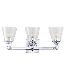 Marion 3-Light Hurricane Metal, Glass Vanity Light