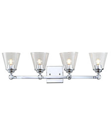 Marion 4-Light Hurricane Metal, Glass Vanity Light