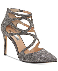 I.N.C Women's Kaffe Caged Evening Pumps, Created for Macy's