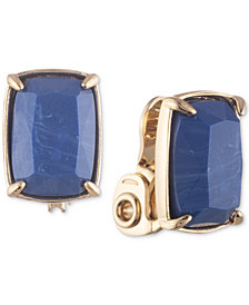 Lauren Ralph Lauren Stone Clip-On Button Earrings