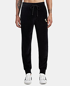 True Religion Men's Velour Jogger Sweatpants