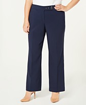 c3aa10d9f1f JM Collection Plus Size Curvy-Fit Pants