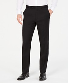 Lauren Ralph Lauren Men's Classic-Fit UltraFlex Stretch Black Flat Front Suit Pants