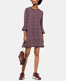 MICHAEL Michael Kors Petite Printed Flounce Dress