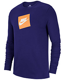 Nike Men's Sportswear Futura Shoebox Logo Long-Sleeve T-Shirt