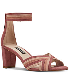 Nine West Pearl Woven Block-Heel Sandals