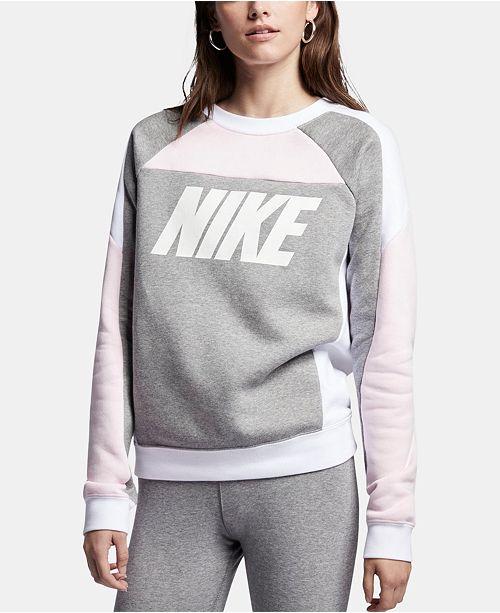 Nike Sportswear Colorblocked Fleece Sweatshirt