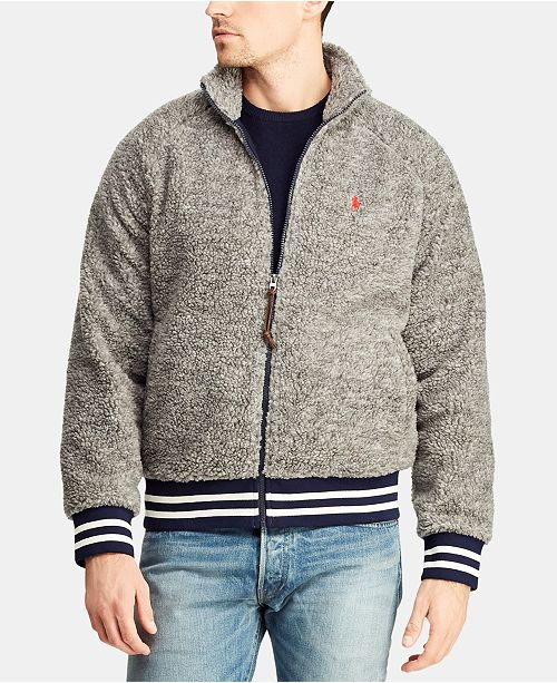 c1dcd007675fb Polo Ralph Lauren Men s Fleece Track Jacket   Reviews - Coats ...