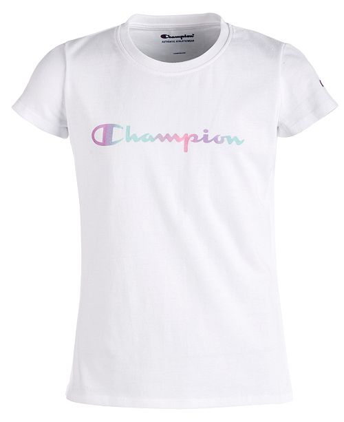 71d7e4230 Champion Big Girls Logo-Print T-Shirt   Reviews - Shirts   Tees - Kids ...