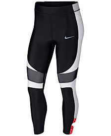 Nike Speed Colorblocked Ankle Running Leggings