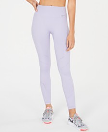Nike Dri-FIT Crochet-Trim High-Rise Seamless Leggings