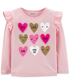 Carter's Toddler Girls Heart-Print Cotton T-Shirt