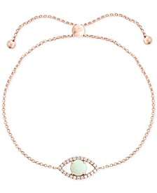 EFFY® Opal (1/2 ct. t.w.) & Diamond (1/6 ct. t.w.) Evil Eye Bracelet Set in 14k Rose Gold