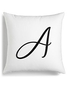 "Initial 16"" x 16"" Decorative Pillow, Created for Macy's"