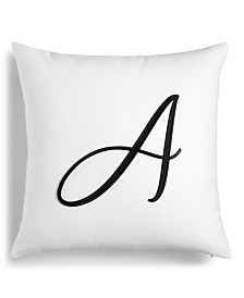 """Charter Club Damask Designs Initial 16"""" x 16"""" Decorative Pillow, Created for Macy's"""
