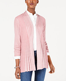 NY Collection Petite Ribbed Cardigan