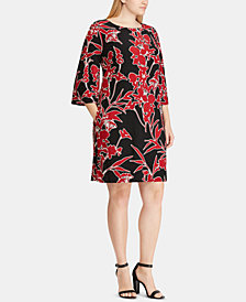 Lauren Ralph Lauren Plus Size Floral-Print Shift Dress