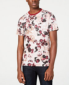 I.N.C. Men's Floral Graphic T-Shirt, Created for Macy's