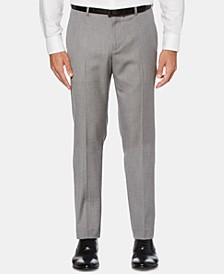 Men's Slim-Fit Herringbone Dress Pants