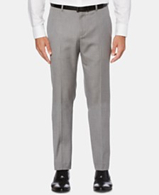 Perry Ellis Men's Slim-Fit Herringbone Dress Pants