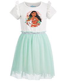 Disney Little Girls Pleated Moana Dress