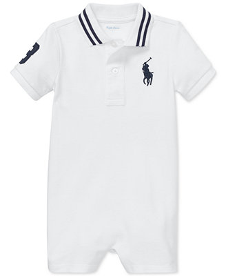 Baby Boys Cotton Mesh Polo Shortall by Polo Ralph Lauren