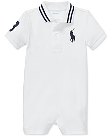 Polo Ralph Lauren Baby Boys Cotton Mesh Polo Shortall