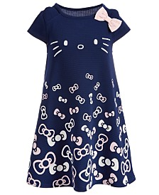 Hello Kitty Little Girls Bow-Print Dress