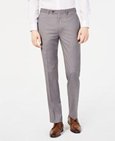 92c70feffffcc Calvin Klein Men s Slim-Fit Performance Stretch Wrinkle-Resistant Light  Gray Mélange Dress Pants