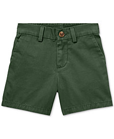 Polo Ralph Lauren Baby Boys Flat-Front Cotton Shorts