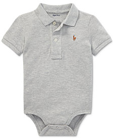Polo Ralph Lauren Baby Boys Cotton Mesh Polo Bodysuit