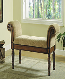 William Transitional Upholstered Bench