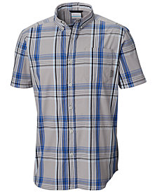 Columbia Men's Rapid Rivers Plaid Short-Sleeve Shirt