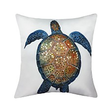 Printed Turtle Outdoor Pillow