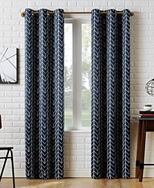 Kenwood Chevron Print Blackout Curtain Collection
