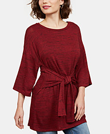Motherhood Maternity Tie-Front Nursing Top