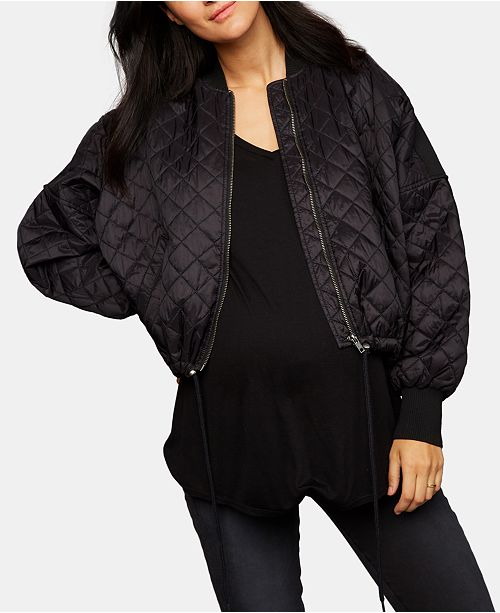 5f3bfd161fe9d A Pea in the Pod BB Dakota Maternity Quilted Jacket & Reviews ...