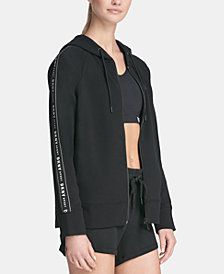 DKNY Sport Logo Taping Zip-Up Hoodie, Created for Macy's