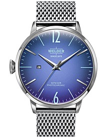 Men's Stainless Steel Mesh Bracelet Watch 45mm
