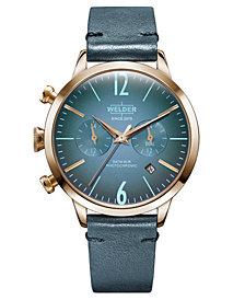 WELDER Women's Green Leather Strap Watch 38mm