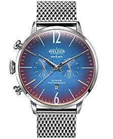 WELDER Men's Stainless Steel Mesh Bracelet Watch 45mm