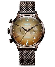 WELDER Women's Brown Stainless Steel Mesh Bracelet Watch 38mm