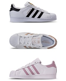 new product 89033 4456b adidas Womens Superstar Casual Sneakers from Finish Line