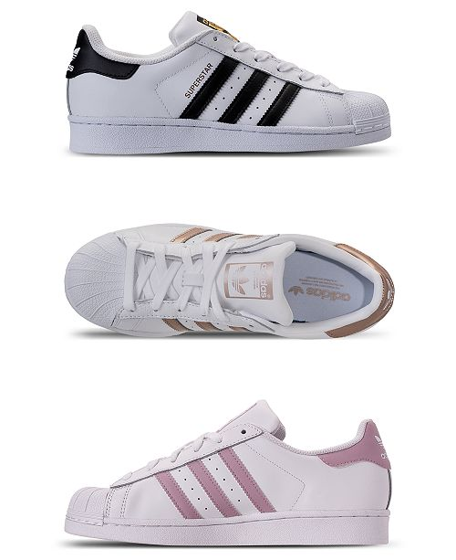1f2a88fa10 adidas Women s Superstar Casual Sneakers from Finish Line   Reviews ...