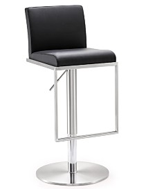 Amalfi Black Steel Adjustable Barstool