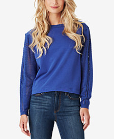 Jessica Simpson Juniors' Susie Pointelle-Sleeve Top