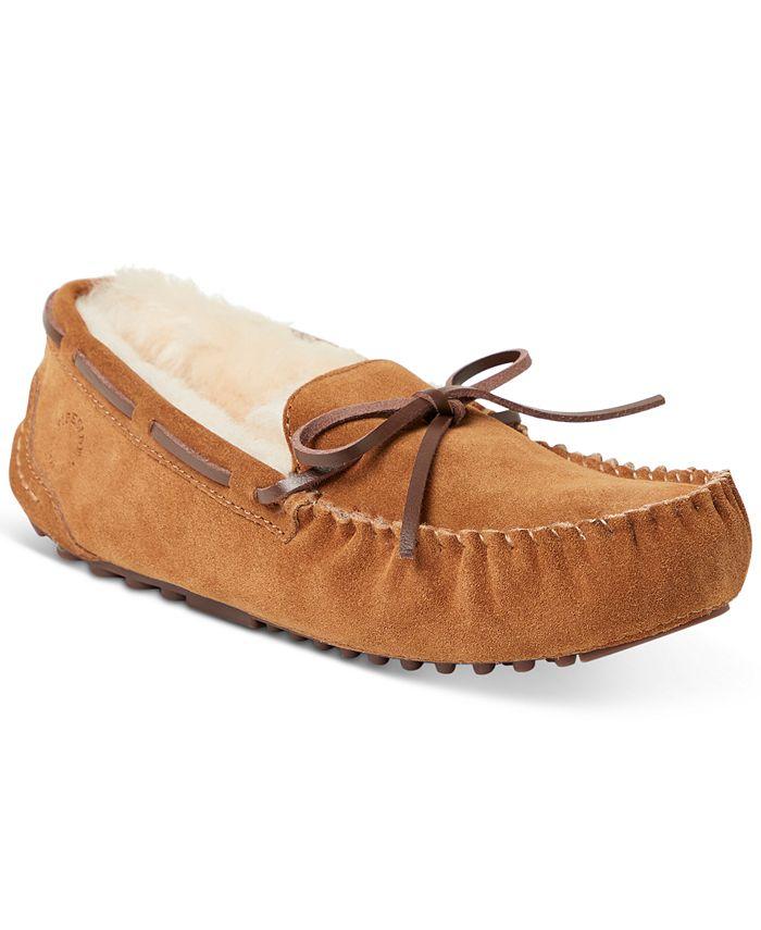 Dearfoams - Fireside Victoria Shearling Moccasin Slippers