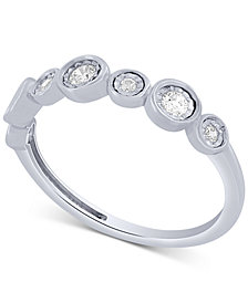 Diamond Fashion Band (1/5 ct. t.w.) in 10k White Gold